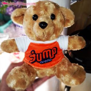 Gấu bông in logo công ty Jump