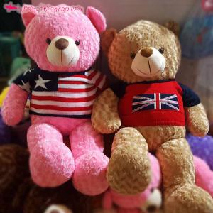 Gấu bông Teddy áo len